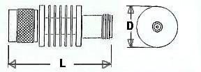 10 Watt Fixed Coax Attenuator - Type N