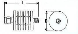 10 Watt Fixed Coax Attenuator - SMA