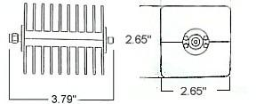 25 Watt Fixed Attenuator - SMA Line Drawing