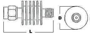 5 Watt Fixed Coax Attenuator - SMA