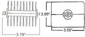 50 Watt Fixed Coax Attenuator - SMA