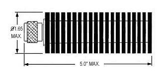 50 Watt Coax Type-N Terminator - Diagram