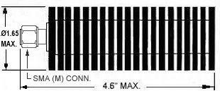 50 Watt Coax SMA Terminator - Diagram