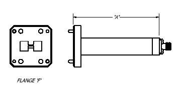 Double Ridge Waveguide To Coaxial Endlaunch Adapter - Diagram