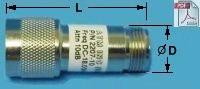Coax Fixed Attenuator 2 Watt - Type N M/F