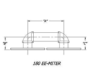 Dual 180 degree E-Miter Rectangular Waveguide