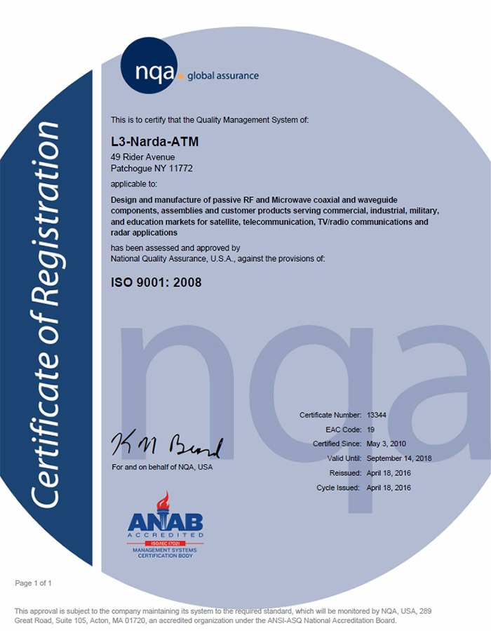 NQA ISO 9001:2008 Re-Certification