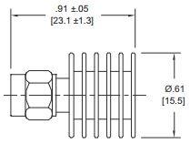5 Watt Coax SMA Terminator - Diagram